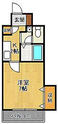 ビガーポリス133宝塚[10階]の間取り