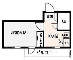 ウエルネス福岡2[202号室]の間取り