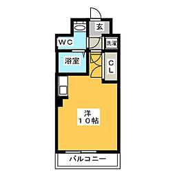 カーサ箱崎[4階]の間取り