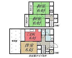 [タウンハウス] 千葉県千葉市若葉区みつわ台5丁目 の賃貸【/】の間取り