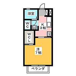 グリーンハイツM壱番館[2階]の間取り