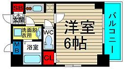 エスリード大阪ドームセルカ 4階1Kの間取り