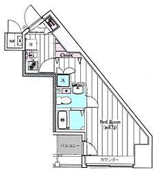 レガスタ東向島[3階]の間取り