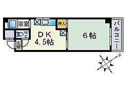 コーポ・ラポール[5階]の間取り