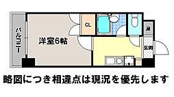 京都府京都市北区平野宮本町の賃貸マンションの間取り