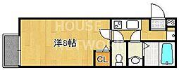 フラッティ西本願寺[201号室号室]の間取り