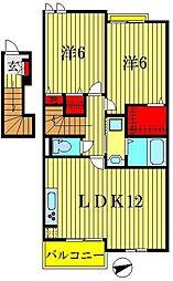 ヒカリ レジデンスA・B棟[2階]の間取り