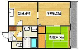 ライベクスト35[3階]の間取り