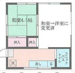 小島原アパート[101号室号室]の間取り
