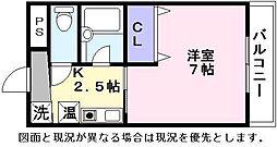 サンタウン竹鼻B[2階]の間取り