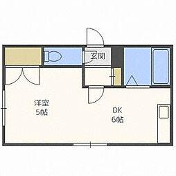 ベルアミィ22[4階]の間取り