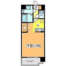 広島県東広島市西条下見5丁目の賃貸マンションの間取り