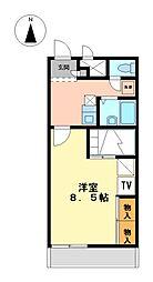 兵庫県たつの市龍野町中村の賃貸アパートの間取り