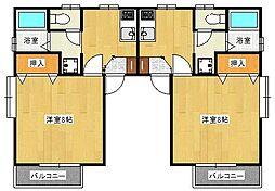ひまわり壱番館・弐番館[II-202号室]の間取り