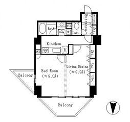 ドゥーエ東池袋[3階]の間取り