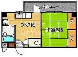 レジデンスオークラ[B103号室号室]の間取り