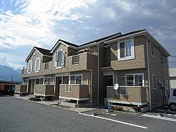 山梨県南アルプス市東南湖の賃貸アパートの外観