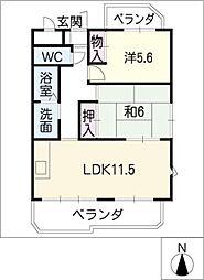 CREST1[7階]の間取り