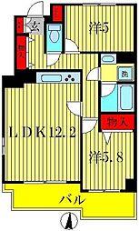 セリオ五番館[3階]の間取り