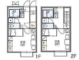 レオパレスDELIGHT[2階]の間取り