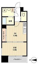 仙台市地下鉄東西線 大町西公園駅 徒歩3分の賃貸マンション 9階1DKの間取り