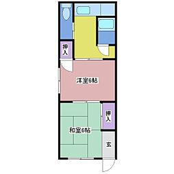 プチハイム黒田[2階]の間取り