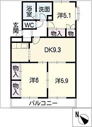 ラ・テール[2階]の間取り