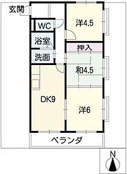 THE TOKUGETU 20[4階]の間取り
