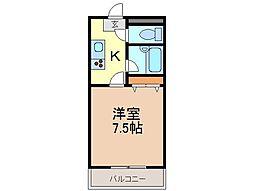 静岡県富士市富士町の賃貸アパートの間取り