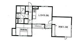 神奈川県座間市緑ケ丘4の賃貸マンションの間取り