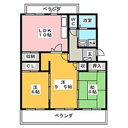 BON Tour五番館[3階]の間取り
