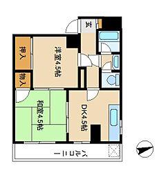 ユキハウス[2階]の間取り