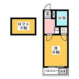 埼玉県さいたま市桜区西堀2丁目の賃貸アパートの間取り