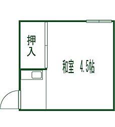 若松荘[13号室]の間取り