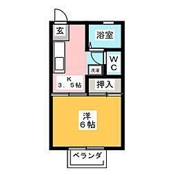 ロイヤル石榑I[2階]の間取り