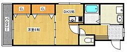 シャンベルジュKT[2階]の間取り