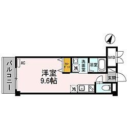 シードハウスB[2階]の間取り