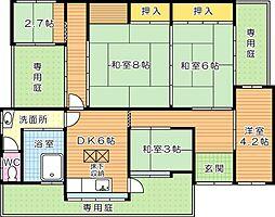 [一戸建] 福岡県北九州市若松区上原町 の賃貸【/】の間取り