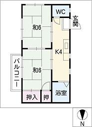 タウニー藤一A[2階]の間取り