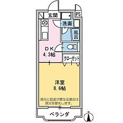 エミネンスHattori[3階]の間取り