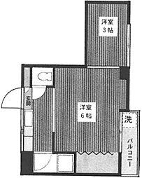 パームマンション千石[2階]の間取り