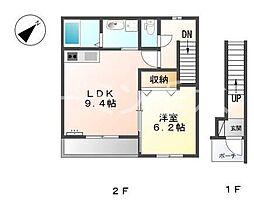 M&Msアサギリ[2階]の間取り