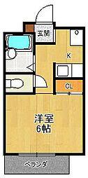 夙川ハイツAIOI[3階]の間取り