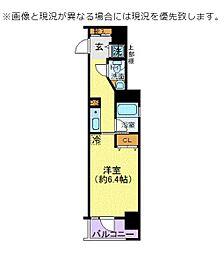 JR京浜東北・根岸線 王子駅 徒歩5分の賃貸マンション 13階1Kの間取り