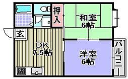 ヴェルジュTOKIWA[203号室]の間取り