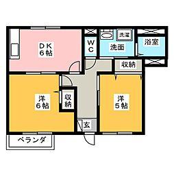 ステージア I II[1階]の間取り