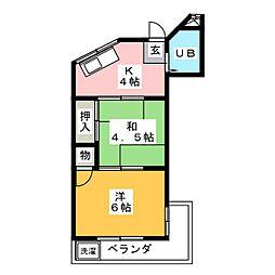シオン草平[2階]の間取り
