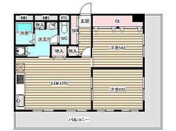 アパートメントK s福島[8階]の間取り