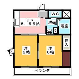 ウィン香月[3階]の間取り