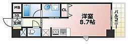 兵庫県神戸市灘区記田町3丁目の賃貸マンションの間取り